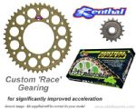 CUSTOM 15/44 GEARING: Renthal Sprockets and GOLD Renthal Chain - Aprilia RSV Mille R/SP (01-03)